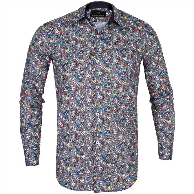 Seth Multi Floral Stretch Cotton Shirt