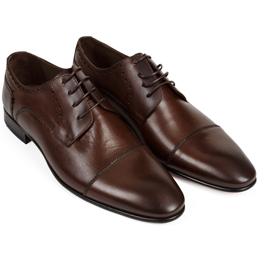 Brallin Toecap Brogue Derby Dress Shoe-wedding-Fifth Avenue Menswear