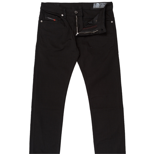 "Thommer Slim Fit ""Stay Black"" Stretch Denim Jeans-essentials-Fifth Avenue Menswear"