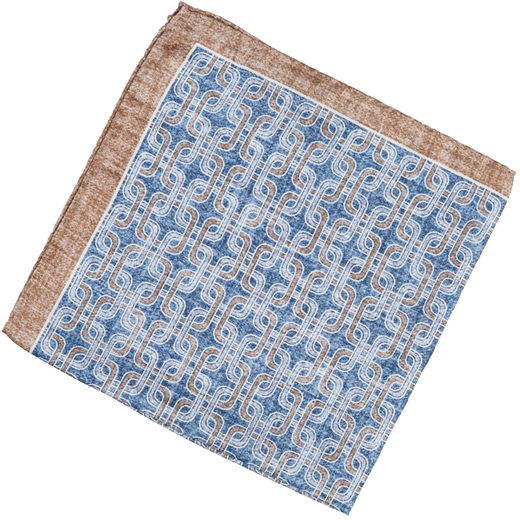Geometric Chain Link Silk Pocket Square-gifts-Fifth Avenue Menswear