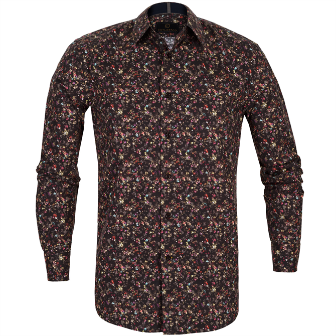 Seth Small Floral Stretch Cotton Shirt