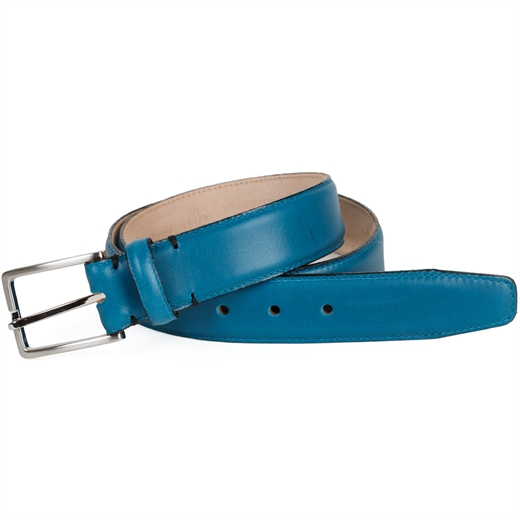 Luxury Poynton Leather Dress Belt-gifts-Fifth Avenue Menswear