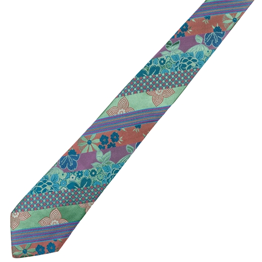Limited Edition Carnaby Multi Silk Tie-race day-Fifth Avenue Menswear
