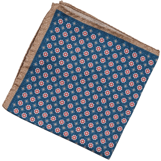 Regal Geometric Silk Pocket Square-gifts-Fifth Avenue Menswear
