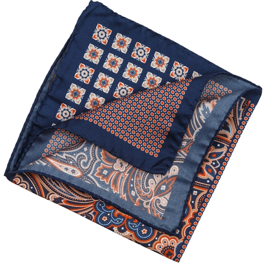 4-Way Panel Silk Pocket Square-wedding-Fifth Avenue Menswear