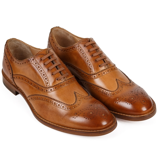 Munro Oxford Brogue Flexible Travel Shoe-work-Fifth Avenue Menswear