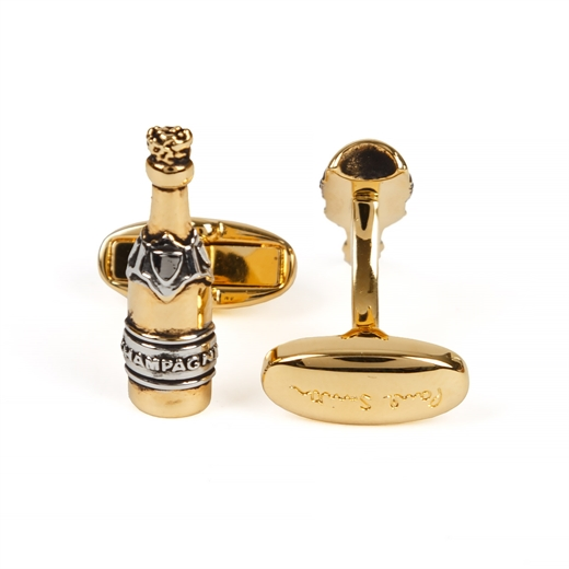 Champagne Bottle Cufflinks-race day-Fifth Avenue Menswear