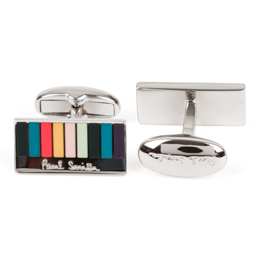 Multi-Stripe Logo Cufflinks-work-Fifth Avenue Menswear
