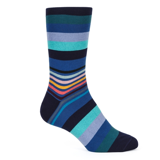 Artist Block Stripe Cotton Socks-gifts-Fifth Avenue Menswear