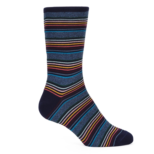 Twist Stripe Cotton Socks-gifts-Fifth Avenue Menswear