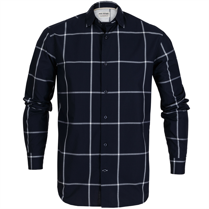 Roma Big Windowpane Check Casual Shirt