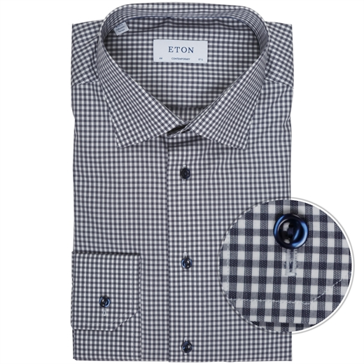 Contemporary Fit Luxury Cotton Gingham Check Shirt-new online-Fifth Avenue Menswear