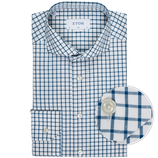 Slim Fit Luxury Cotton Big Check Shirt-new online-Fifth Avenue Menswear