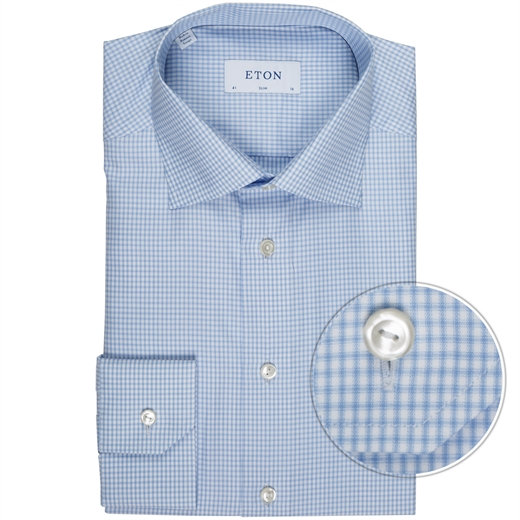 Slim Fit Luxury Cotton Shadow Check Shirt-new online-Fifth Avenue Menswear