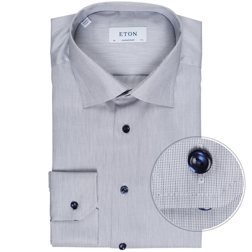 Contemporary Fit Luxury Cotton Micro Weave Shirt-new online-Fifth Avenue Menswear