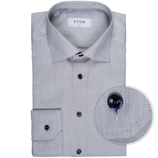 Slim Fit Luxury Cotton Micro Weave Shirt-new online-Fifth Avenue Menswear