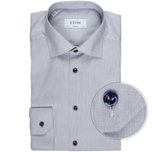 Super Slim Fit Luxury Cotton Micro Weave Shirt-new online-Fifth Avenue Menswear