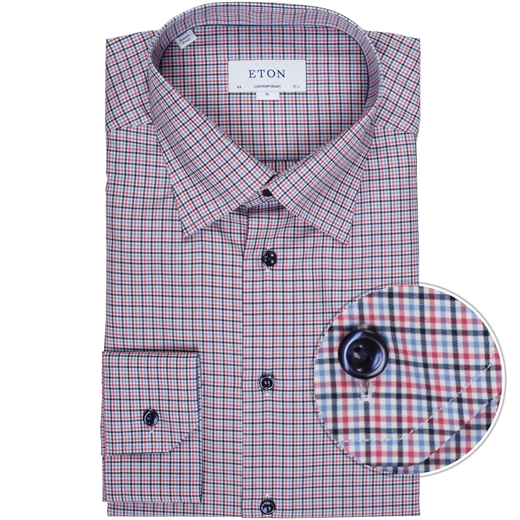 Contemporary Fit Luxury Cotton Check Shirt-new online-Fifth Avenue Menswear