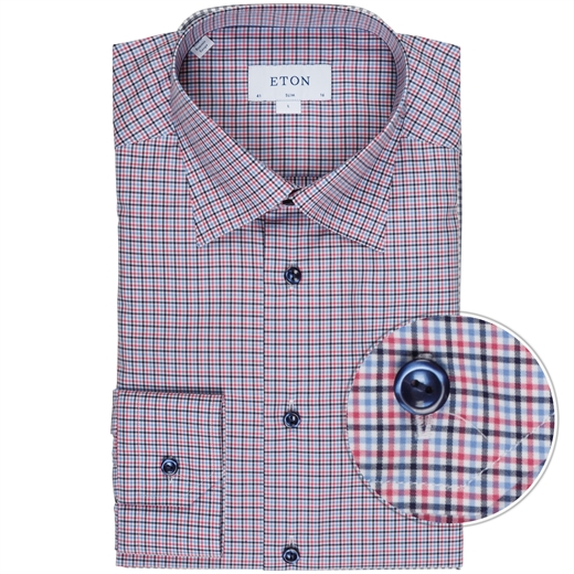Slim Fit Luxury Cotton Check Shirt-new online-Fifth Avenue Menswear
