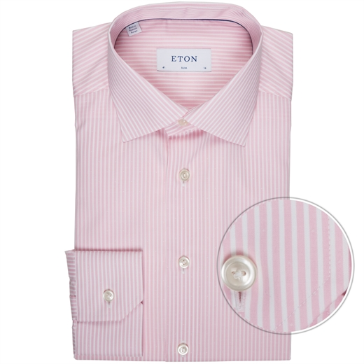 Slim Fit Luxury Fine Stripe & Dobby Shirt-shirts-Fifth Avenue Menswear