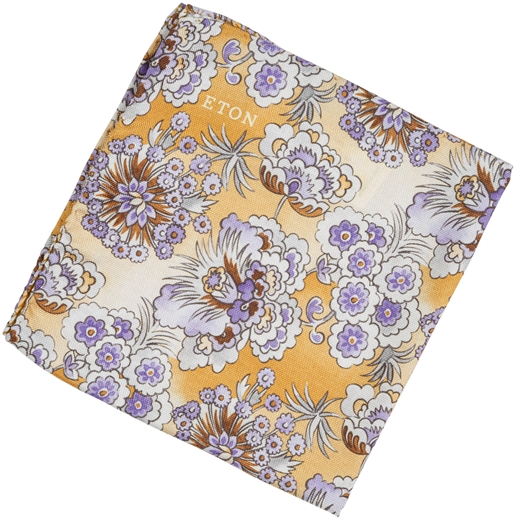 Japanese Floral Silk Pocket Square-new online-Fifth Avenue Menswear