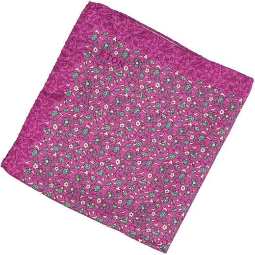 Micro Floral Silk Pocket Square-wedding-Fifth Avenue Menswear