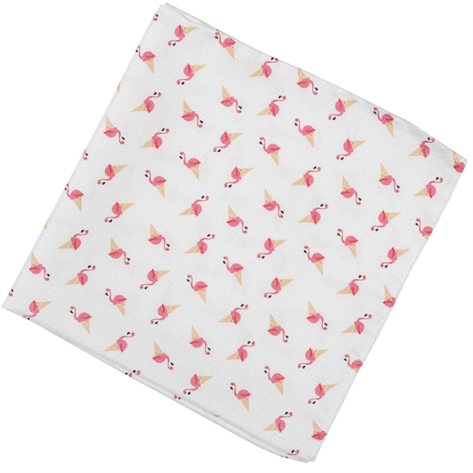 Flamingo Cones Silk Pocket Square-new online-Fifth Avenue Menswear