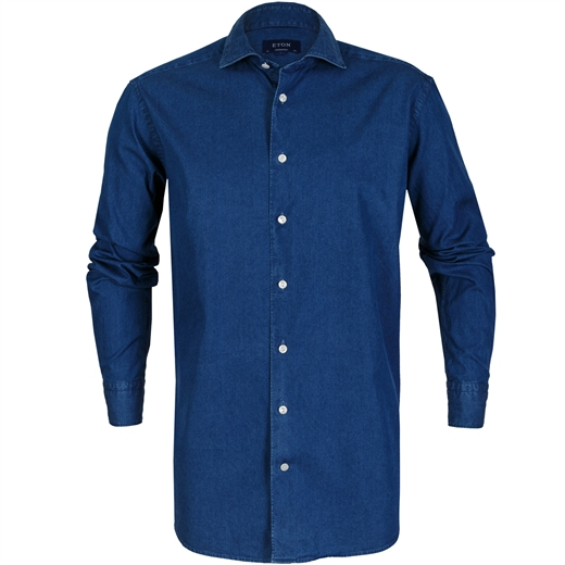 Contemporary Fit Luxury Light Denim Shirt-new online-Fifth Avenue Menswear