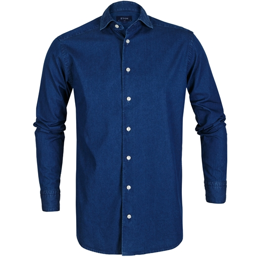 Slim Fit Luxury Light Denim Shirt-new online-Fifth Avenue Menswear