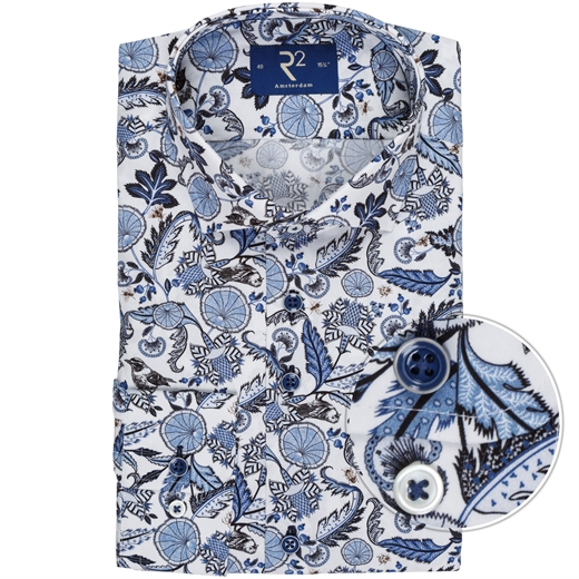 Luxury Cotton Floral Print Dress Shirt-new online-Fifth Avenue Menswear