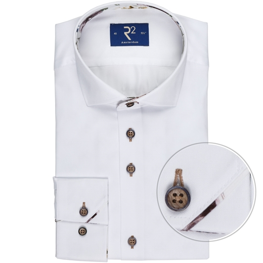 White Luxury Cotton Twill Dress Shirt-wedding-Fifth Avenue Menswear
