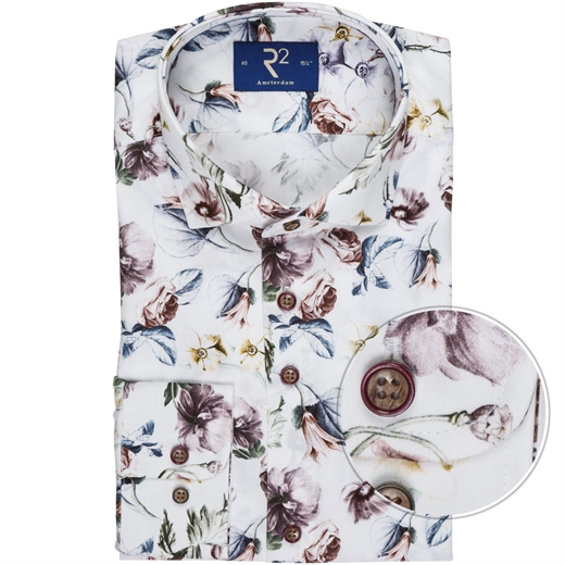 Luxury Cotton Floral Print Dress Shirt-shirts-Fifth Avenue Menswear