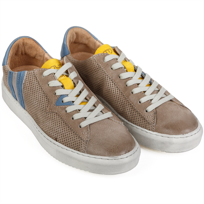 Tulun Luxury Punched Leather Sneakers