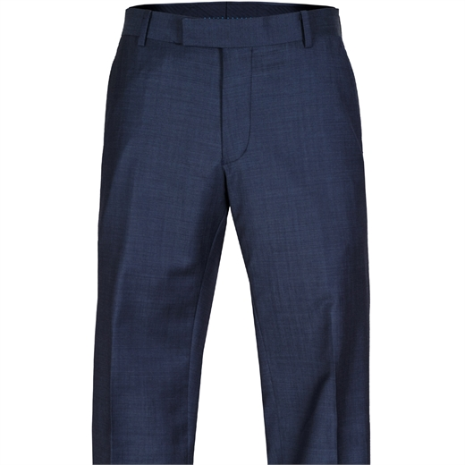 Caper Blue Wool Dress Trouser-work-Fifth Avenue Menswear