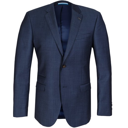Beta Blue Wool Suit Jacket-work-Fifth Avenue Menswear