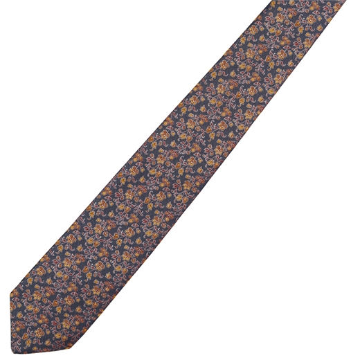 Small Micro Floral Tie-new online-Fifth Avenue Menswear