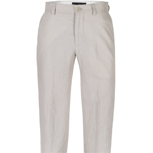 Slim Fit Straight Linen Dress Trousers-wedding-Fifth Avenue Menswear