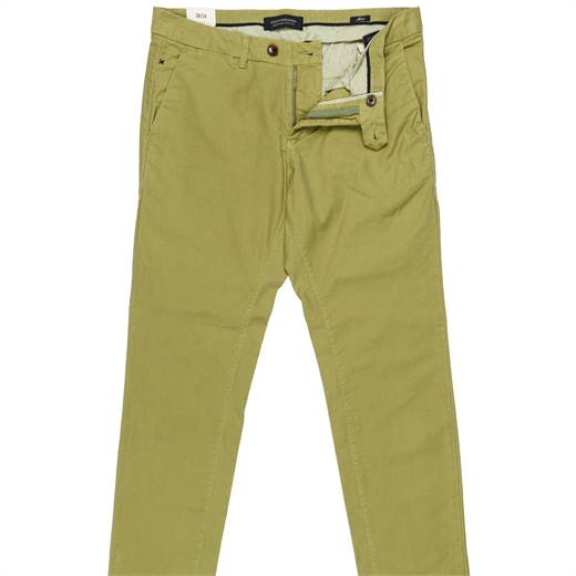 Mott Slim Fit Garment Dyed Chino-trousers-Fifth Avenue Menswear