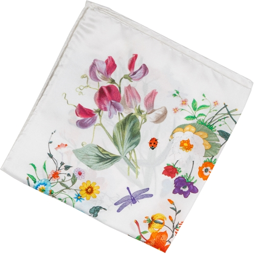 Floral Silk Pocket Square-gifts-Fifth Avenue Menswear