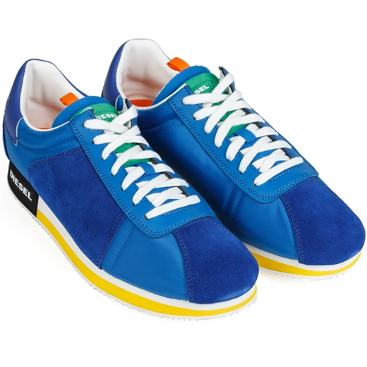 Pyave Bright Blue Trainers-new online-Fifth Avenue Menswear