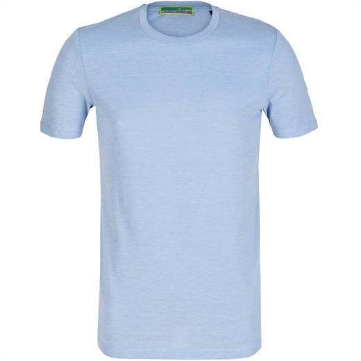 Slim Fit Plain Pique Cotton T-Shirt-holiday-Fifth Avenue Menswear