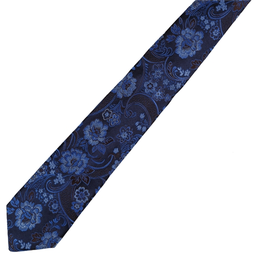 Limited Edition Como Floral Silk Tie-gifts-Fifth Avenue Menswear