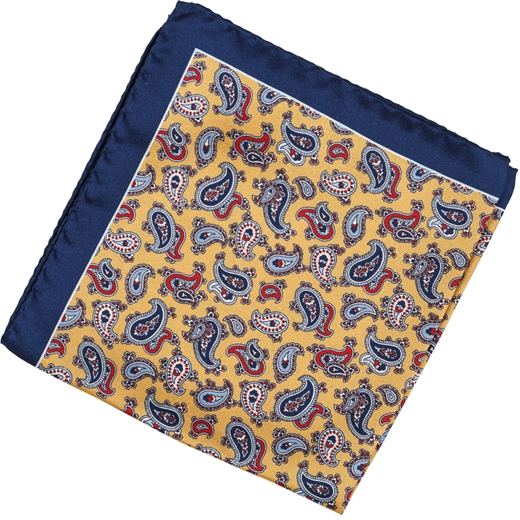 Paisley Silk Pocket Square-new online-Fifth Avenue Menswear