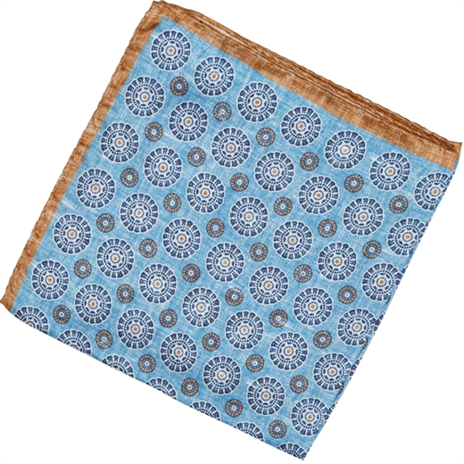 Geometric Pattern Silk Pocket Square-new online-Fifth Avenue Menswear