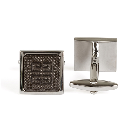 Geometric Pattern Cufflinks-new online-Fifth Avenue Menswear