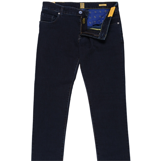 M5 Luxury Multi-Colour Stitch Denim Jeans-essentials-Fifth Avenue Menswear