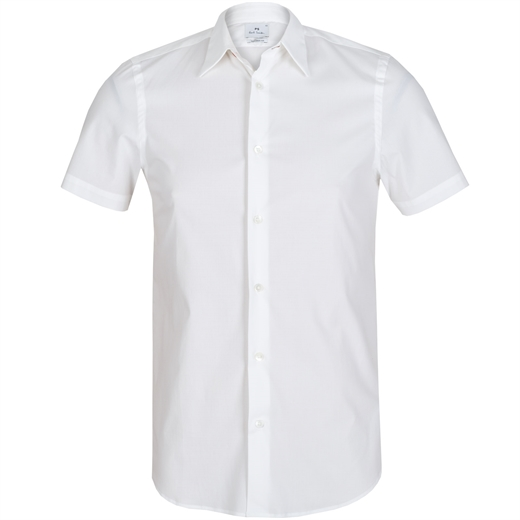 Slim Fit Stretch Cotton Shirt-essentials-Fifth Avenue Menswear