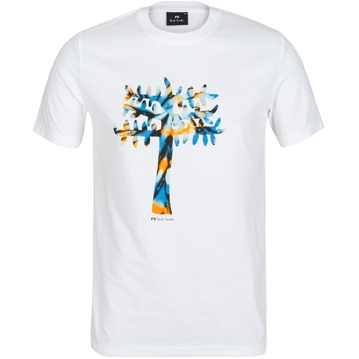 Soft Cotton Tree Print T-Shirt-new online-Fifth Avenue Menswear