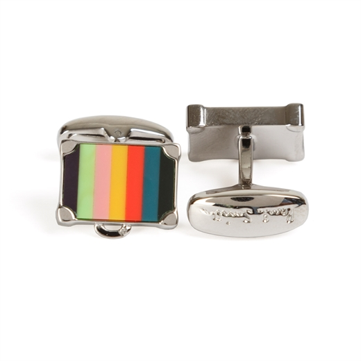 Striped Suitcase Cufflinks-new online-Fifth Avenue Menswear