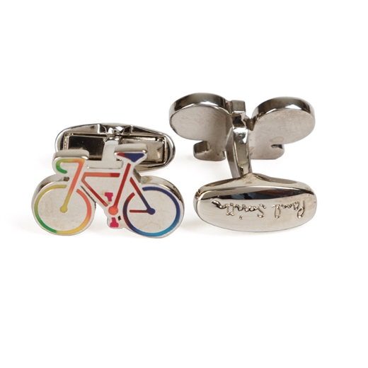 Multi-coloured Bicycle Cufflinks-new online-Fifth Avenue Menswear